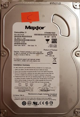 disco rigido hdd 80gb maxtor