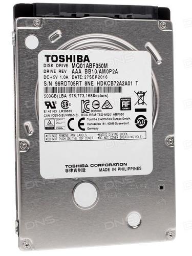 disco rígido hdd hd toshiba - mq01abf050 500gb sata nuevos