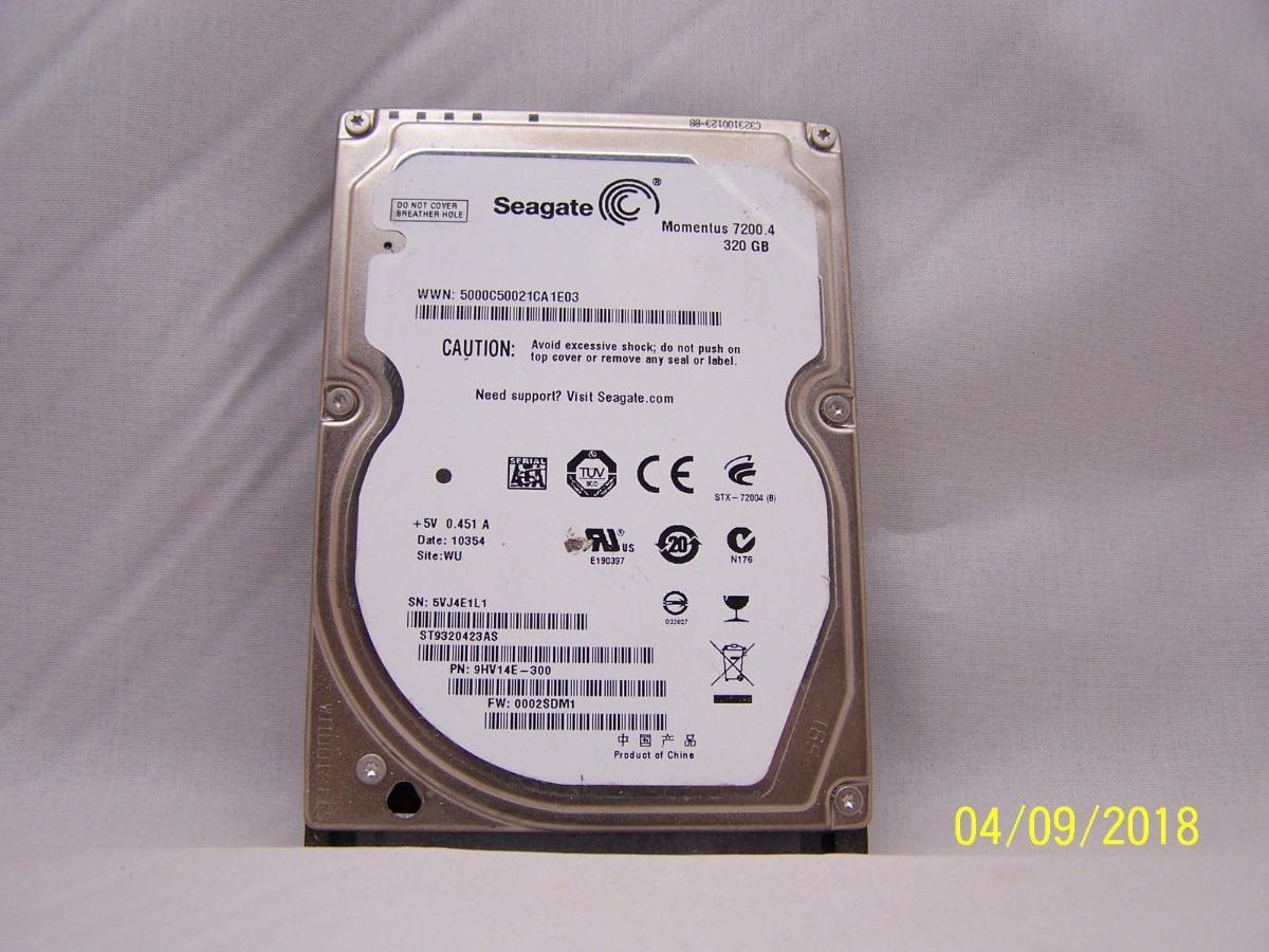 Disco Rigido Notebook Seagate Momentus 72004 320 Gb