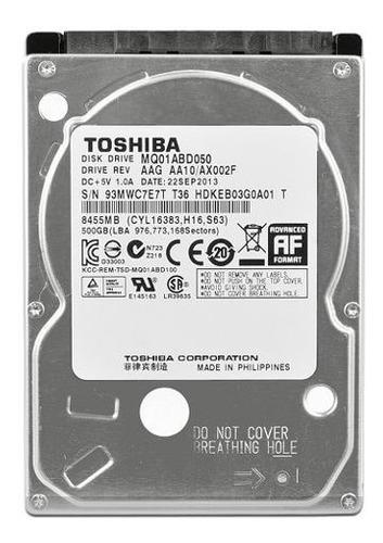 disco rigido notebook toshiba 500 gb
