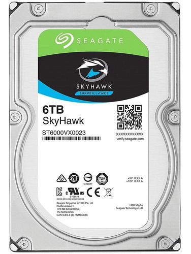 disco rigido seagate 6tb skyhawk 7200rpm 256 mb 1