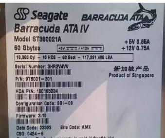 disco rigido seagate barracuda ata iv 60gb
