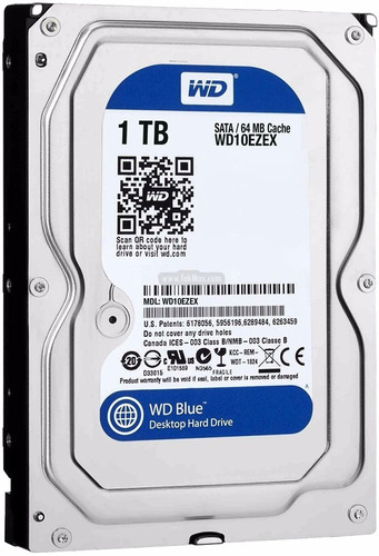 disco rigido western digital caviar blue 1t 64mb sata 3