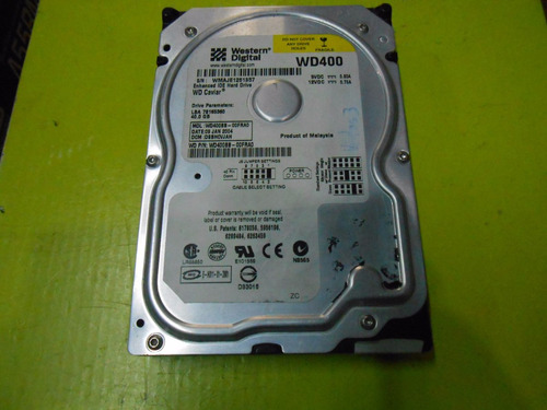 disco rigido western digital caviar ide 40gb