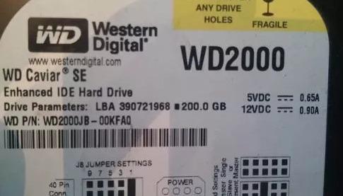 disco rigido western digital wd caviar se 200gb
