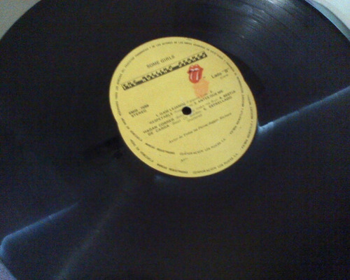 disco rock lp the rolling stones.  some girls
