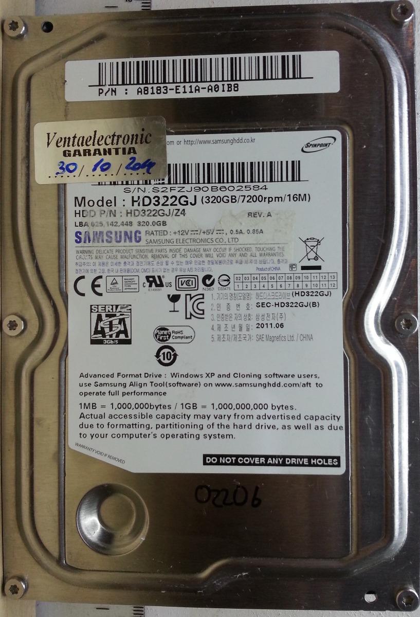 Disco Samsung Hd322gj 35 320gb Sata 2206 Recuperodatos 8800 Hardisk Pc Cargando Zoom