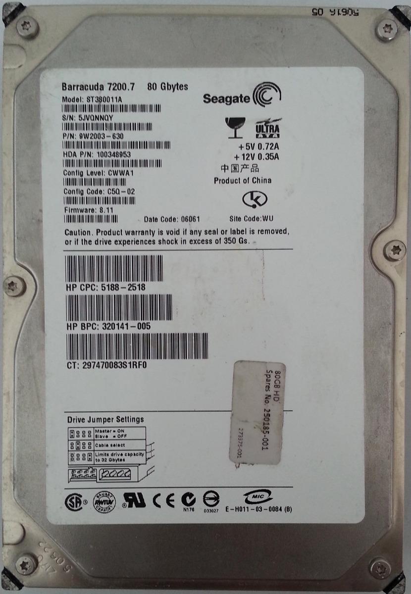 SEAGATE ST380011A DESCARGAR CONTROLADOR