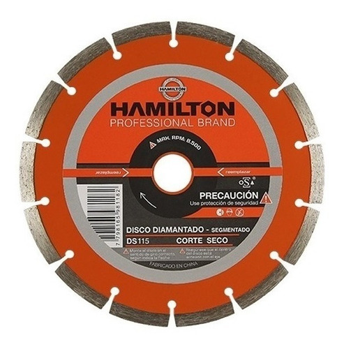 disco segmentado diamantado 115mm ds 115 hamilton 4,5''