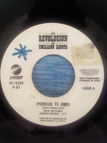 disco sencillo 45 rpm vinilo acetato lp la revolucion zapata