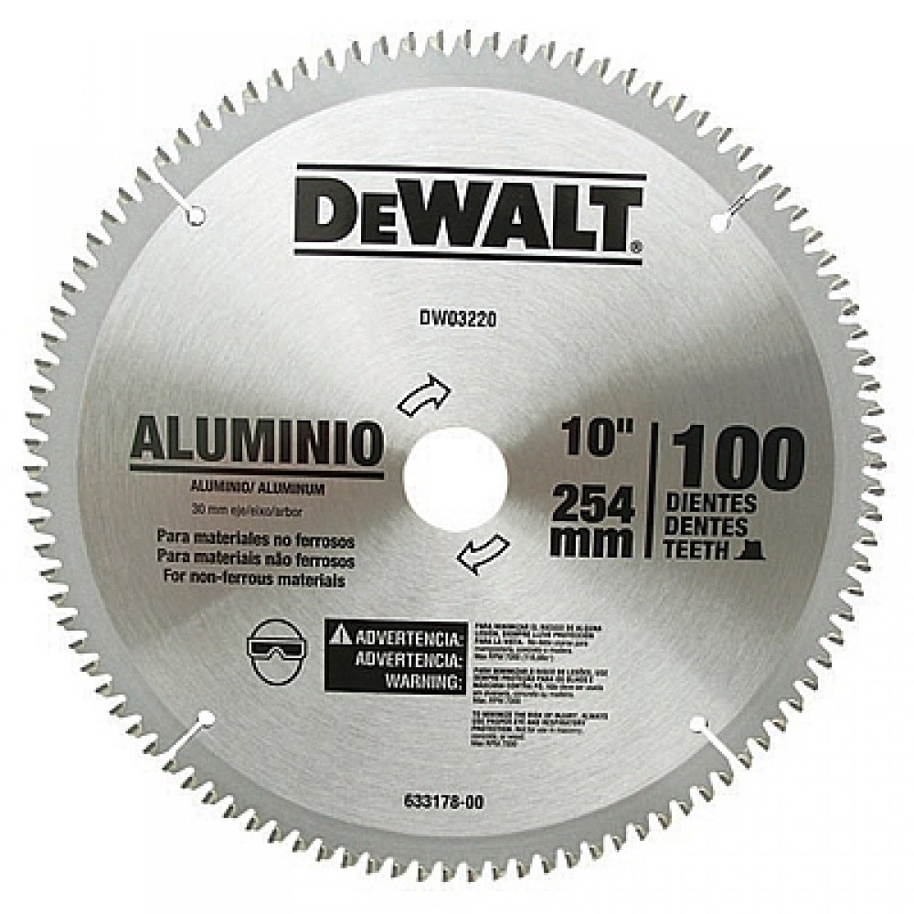 Disco serra circular p aluminio 10 254mm 100d dewalt - Disco corte aluminio ...