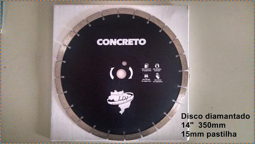 disco serra clipper corte concreto e asfasto 350mm turbo