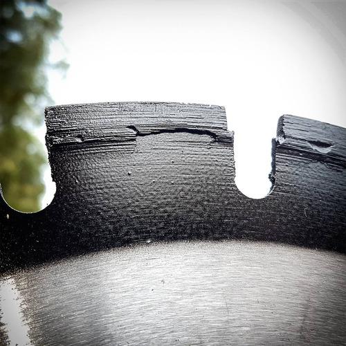 disco serra diamantada corte asfalto concreto 350mm past.6mm
