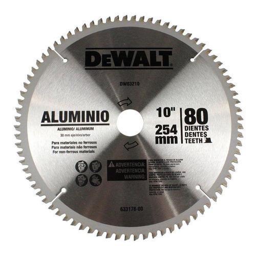 disco sierra 10pul 254 mm aluminio 80 dientes dewalt dw03210