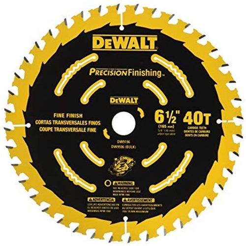 disco sierra 6-1/2  eje 5/8   40d precision dewalt dw9196