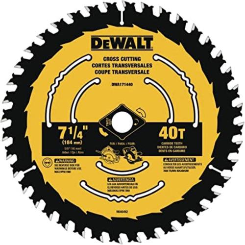 disco sierra 7-1/4 40 dientes carburo mader dewalt dwa171440