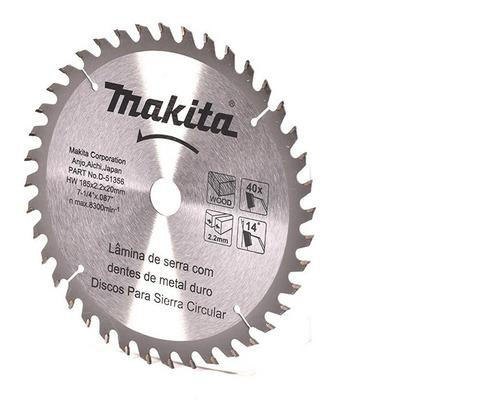 disco sierra 7-1/4 x 40 p/madera makita d-51356
