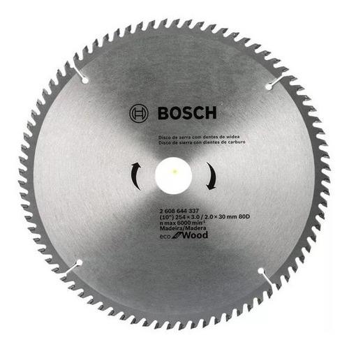 disco sierra circular 254mm 80 dientes eco wood madera bosch