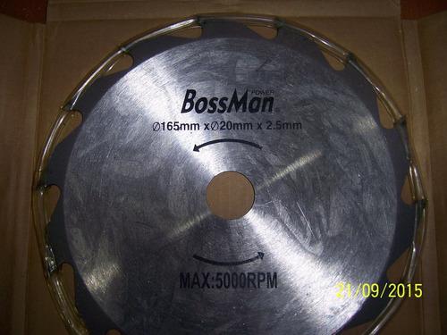 disco sierra circular 6 1/2 marca bossman