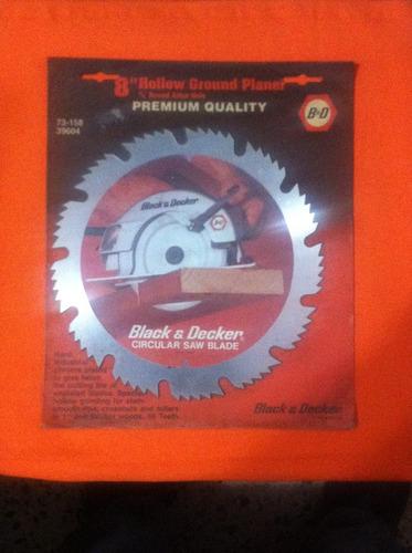disco sierra circular 8  black & decker iglete/madera gruesa