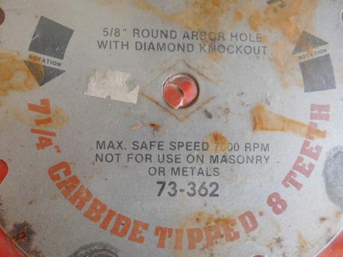 disco sierra circular black & decker de 7¼  y 8 dientes
