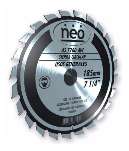 disco sierra circular madera aluminio 60 dientes 210mm neo
