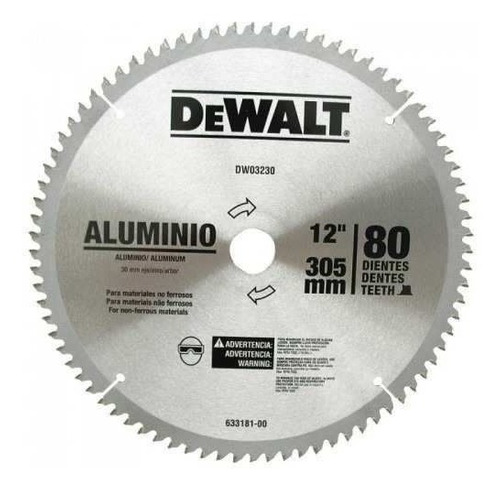 disco sierra ingleteadora dewalt 12 -80d dwa03230