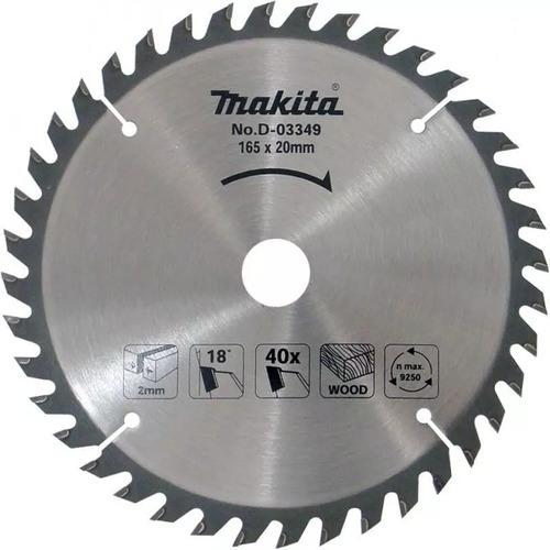 disco sierra makita d-03349 165mm 40d corte madera hoja