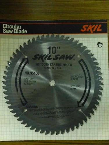 disco sierra para madera de 10 pulgadas con 60 dientes. skil