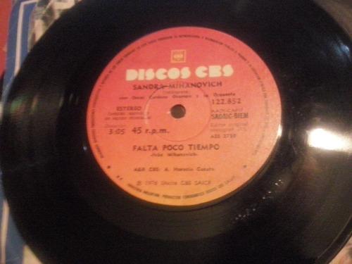 disco simple vinilo sandra mihanovich falta poco tiempo