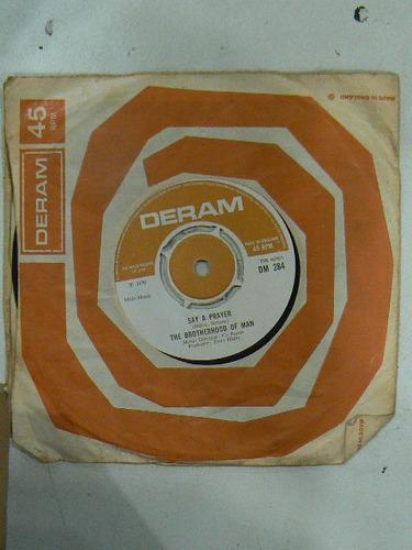 disco simple vintage the brotherhood of man año 1970 say a 9