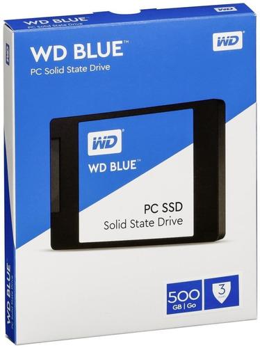 disco solido 500gb wd blue ssd 2.5 sata3 6gb/s slot one