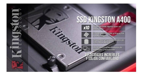 disco solido kingston 480gb 1tb a400 6gbs pc laptop envios