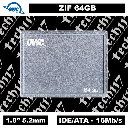 disco sólido ssd 1.8'' owc zif 64gb macbook air early 2008