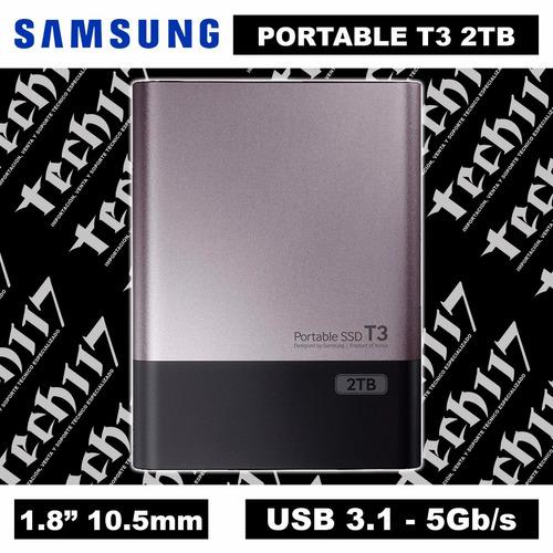 disco sólido ssd 1.8'' samsung portable t3 2tb usb 3.1