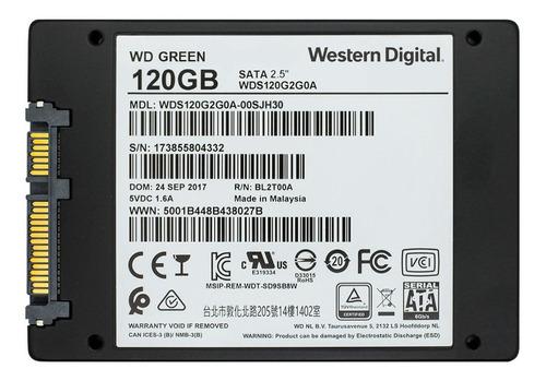 disco sólido ssd 2.5 7mm wd green 120gb sata 3.0