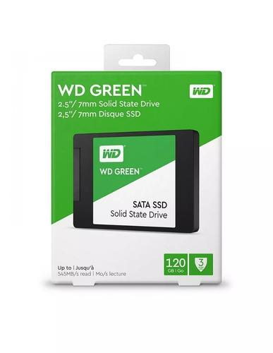 disco sólido ssd 2.5'' 7mm wd green 120gb sata - 6gb/s