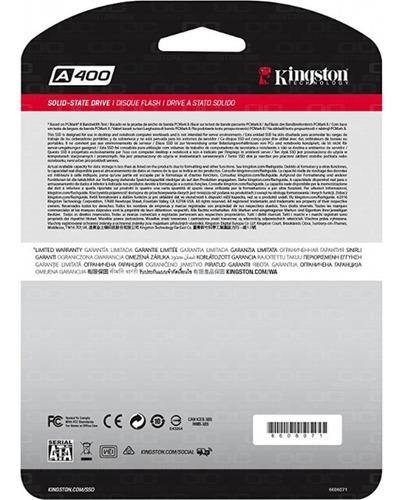 disco solido ssd kingston a400 120gb sata3 500mb/s envio