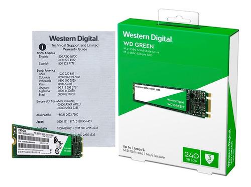 disco sólido ssd m.2 2280 wd green 240gb sata 3.0