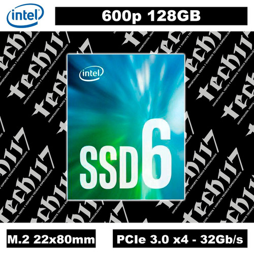 disco sólido ssd m.2 22x80mm intel 600p 128gb pcie 3.0 x4