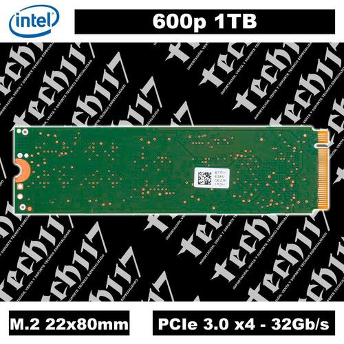 disco sólido ssd m.2 22x80mm intel 600p 1tb pcie 3.0 x4
