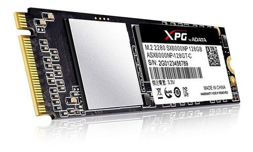 disco solido ssd m2 adata xpg sx6000 128gb nvme pci express