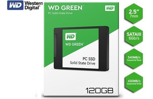 disco solido ssd wester digital 120 gb