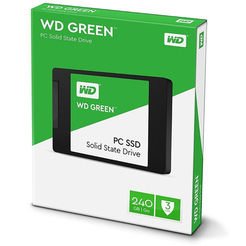 disco solido wd 240 gb ssd green 2.5 western digital