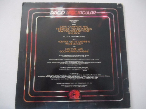 disco spectacular / inspired by the film hair lp acetato g