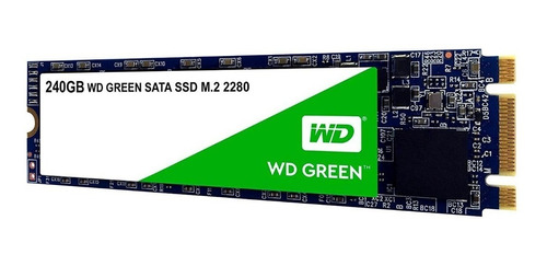 disco ssd 240gb wester digital green pc m.2 2280-wds240g2g0b