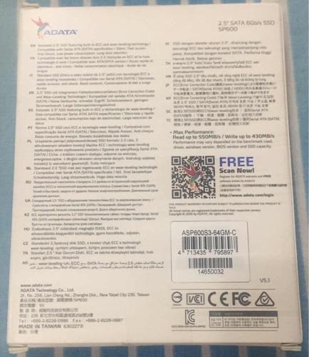 disco ssd adata premier s p6000 64 gb sata 6 gb/s