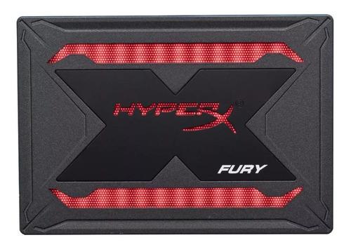 disco ssd hyperx fury rgb 240gb sata   unidad negra sellado