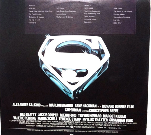 disco - superman - the movie - importado - 15.000bsf