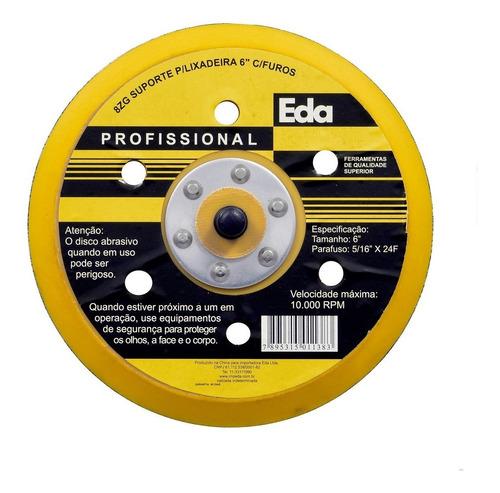 disco suporte 6 roto orbital roquite lixadeira c/furos prato